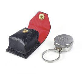 Pojemnik metalowy na olej w etui, na palec, nikiel (12)