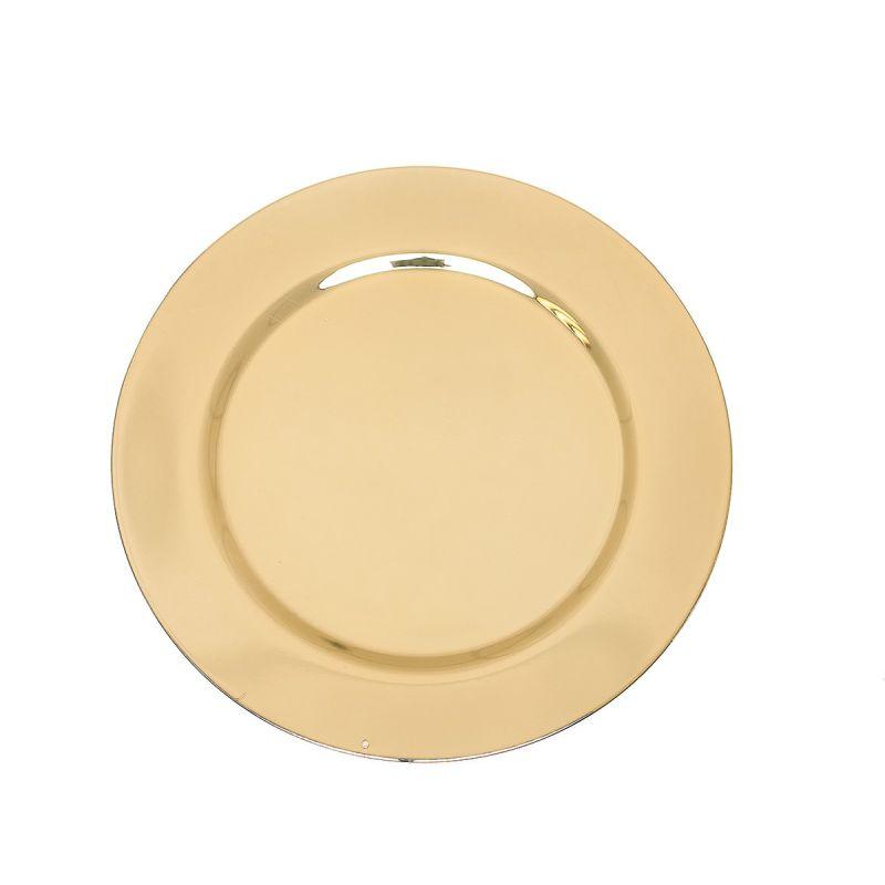 Patena wyprofilowana, złocona śr. 11 cm