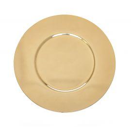 Patena wyprofilowana, złocona śr. 16,5 cm