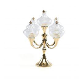 Lampka oliwna szklana 5 płomieni (8)