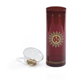 Lampka wieczna oliwna z wkładem i dekorowaną podstawą (4)
