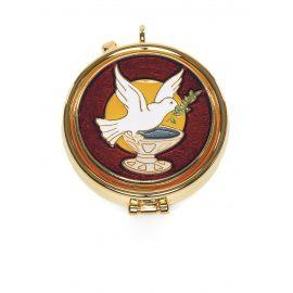 Cyborium z plakietką emaliowaną - Gołąbek pokoju
