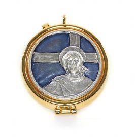 Cyborium z plakietką emaliowaną - Chrystus