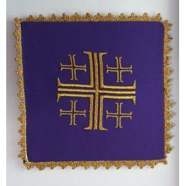 Bielizna kielichowa fiolet -  Krzyż Jerozolimski