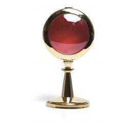Relikwiarz z mosiądzu polerowanego, złocony - 16 cm