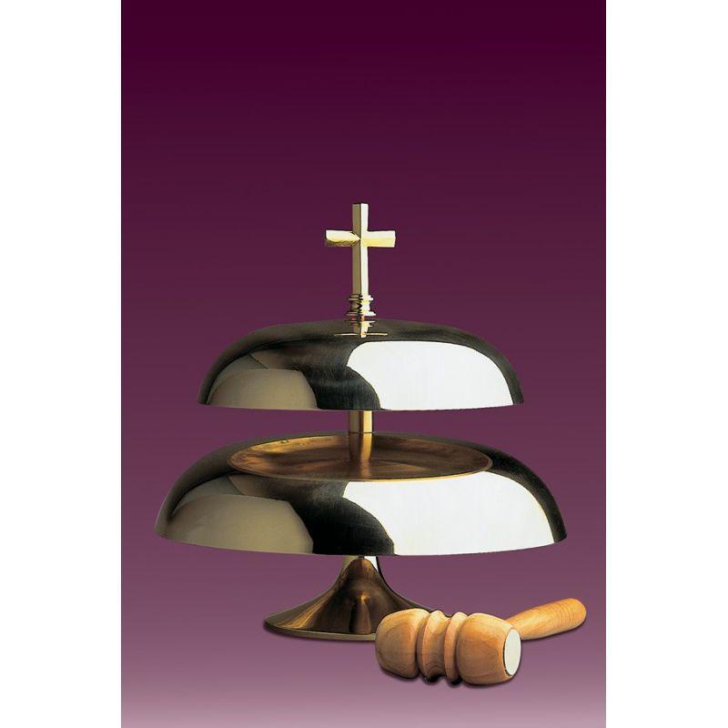 Gong kościelny dwutonowy, błyszczący
