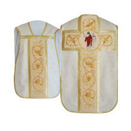 Ornat rzymski haftowany + bursa, manipularz, welon - Chrystus Zmartwychwstały