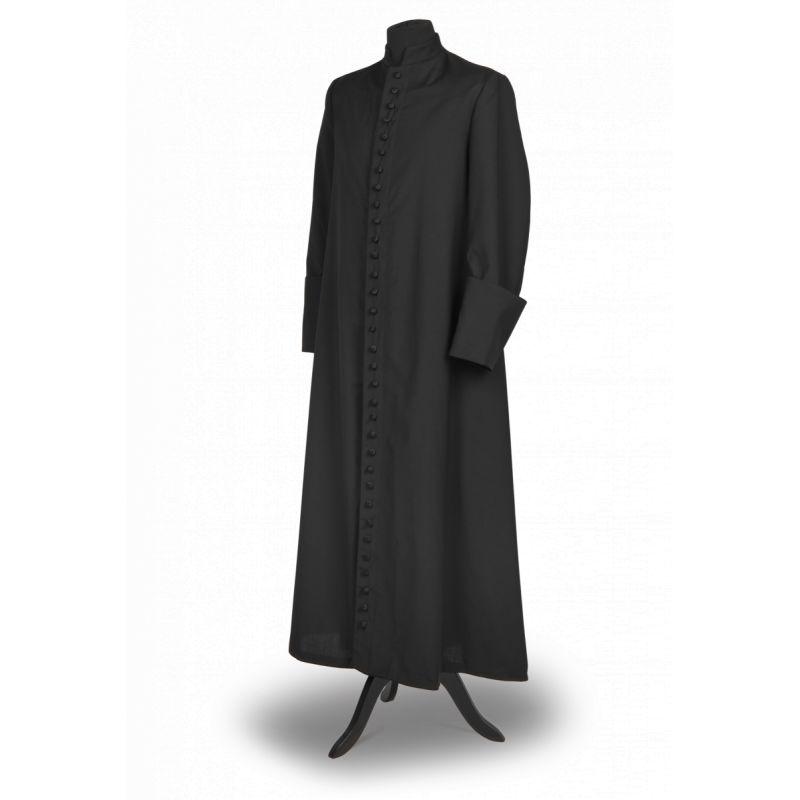 Sutanna kapłańska czarna - materiał tropic