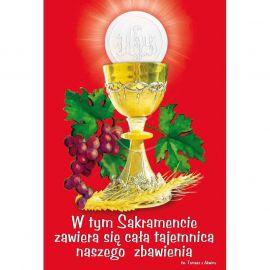 Plakat – W tym Sakramencie zawiera się cała tajemnica ...