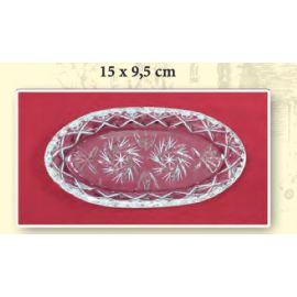 Taca szklana /kryształ - 15x9,5 cm.