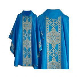 Ornat haftowany Maryjny niebieski (26)