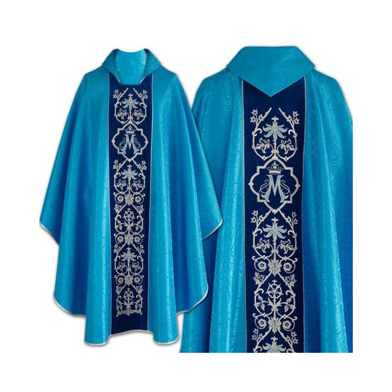 Ornat haftowany Maryjny niebieski (27)