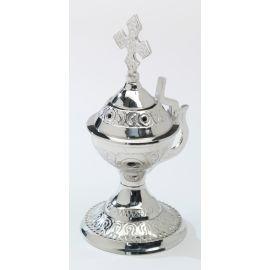 Kadzielnica mosiężna styl bizantyjski - srebrna