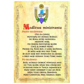 Modlitwa ministranta - plakat