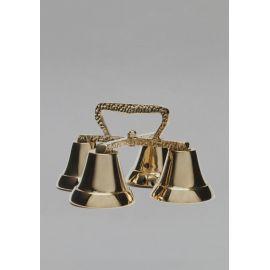 Dzwonek poczwórny wykonany z mosiądzu