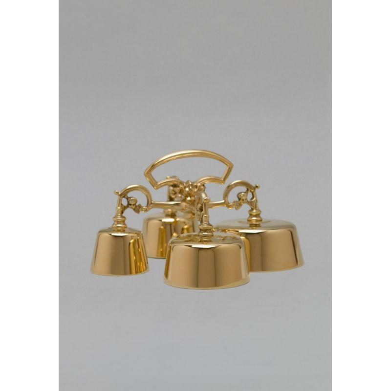 Dzwonek poczwórny mosiężny