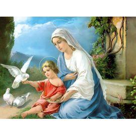 Obraz 30x40 - Matka Boża z Dzieciątkiem