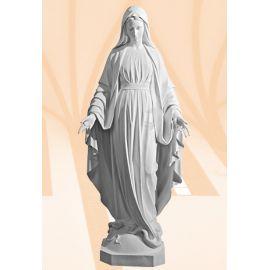 Figura Matka Boża Niepokalana biała - 180 cm