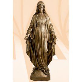 Figura Matka Boża Niepokalana 180 cm (włoskie złoto jasne)