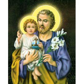 Obrazek 20x25 - Św. Józef z dzieciątkiem Jezus