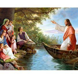 Obrazek 20x25 - Jezus na łodzi
