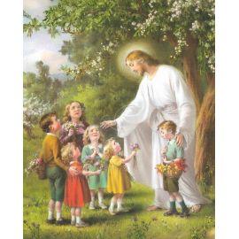 Obrazek 20x25 - Jezus i dzieci