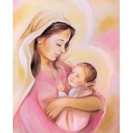 Obrazek 20x25 - Matka Boża z Dzieciątkiem (2)