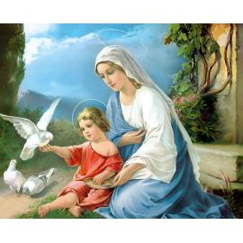 Obrazek 20x25 - Matka Boża z Dzieciątkiem