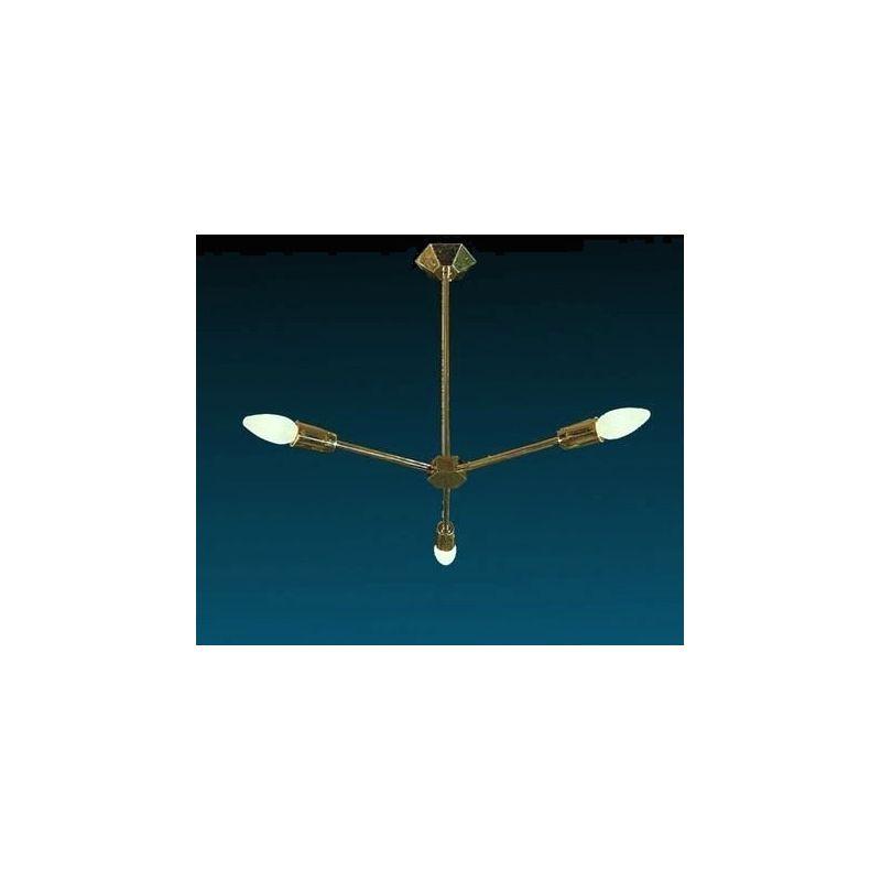 Żyrandol mosiężny  - 3 żarówek