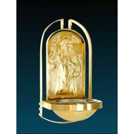 Kropielnica kościelna złocona - 37 cm