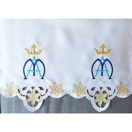 Obrus ołtarzowy haftowany - wzór maryjny (167)