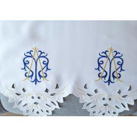 Obrus ołtarzowy haftowany - wzór maryjny (170)