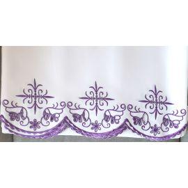 Obrus ołtarzowy haftowany - fioletowy krzyż (54)