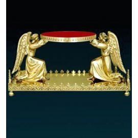 Tron pod monstrancję (złocony) - 2 Anioły