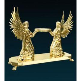 Tron pod monstrancję (złocony) - 2 Klęczące Anioły