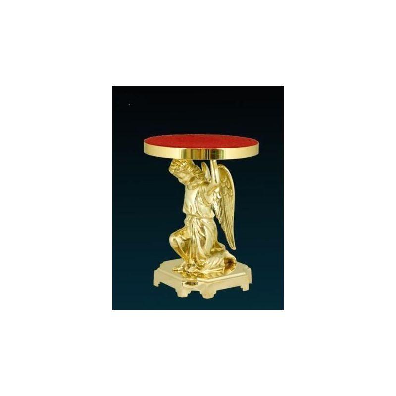 Tron pod monstrancję (złocony) - Klęczący Anioł