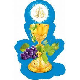 Emblemat na Boże Ciało 35x50 cm - wzór eucharystyczny (11)