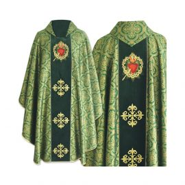 Ornat gotycki haftowane serce, pas aksamit