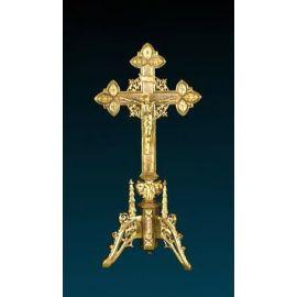 Krzyż ołtarzowy złocony - 49 cm (2)