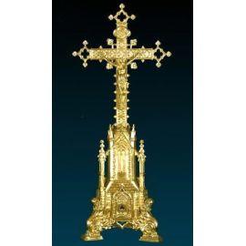 Krzyż ołtarzowy złocony - 74 cm (2)