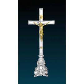 Krzyż ołtarzowy srebrzony - 49 cm (5)