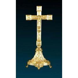 Krzyż ołtarzowy złocony - 53 cm (6)