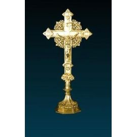 Krzyż ołtarzowy złocony - 41 cm (2)