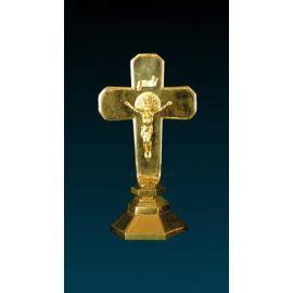 Krzyż ołtarzowy złocony - 38 cm (8)