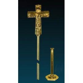 Krzyż ołtarzowy złocony - 52 cm (11)