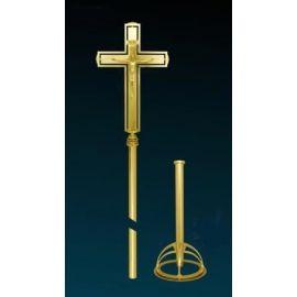 Krzyż procesyjny złocony (4)