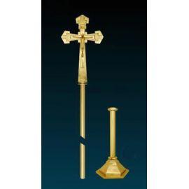 Krzyż procesyjny złocony (5)