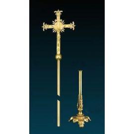 Krzyż procesyjny złocony (6)