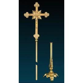 Krzyż procesyjny złocony (7)