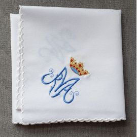 Korporał haftowany w 4 rogach - wzór Maryjny